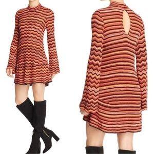 Free People Ziggy Mini Bell Sleeve Dress Size XS